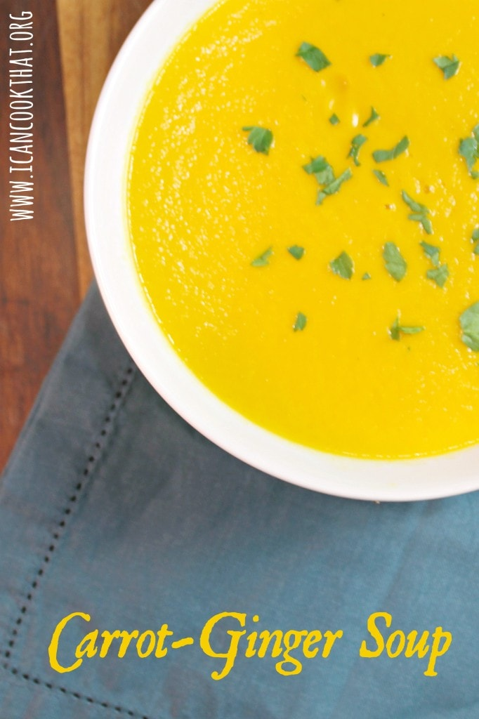 This Carrot Ginger Soup from Cooking Light is comforting and creamy ...