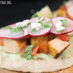 Chipotle Tofu Tacos with Avocado Cream