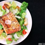 Lemon Salmon Caesar Salad