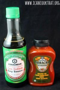 Kikkoman Less Sodium Soy Sauce and Sriracha #ChineseNYeats