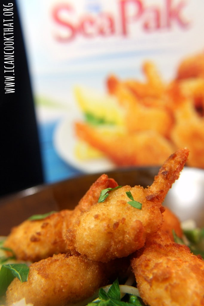 Butterfly Shrimp over Asparagus Pasta #ShrimpItUp #ad