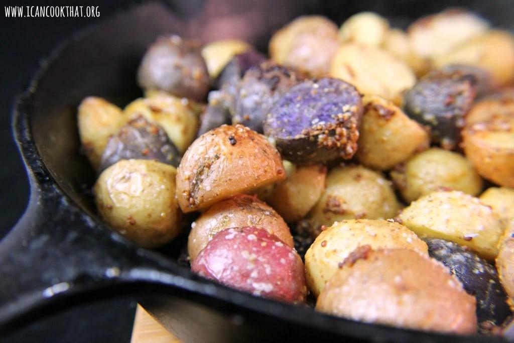 Roasted Mustard Potatoes