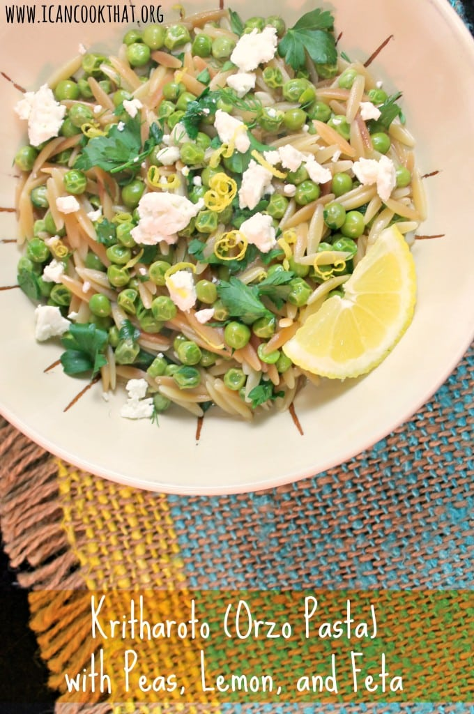Kritharoto (Orzo Pasta) with Peas, Lemon, and Feta