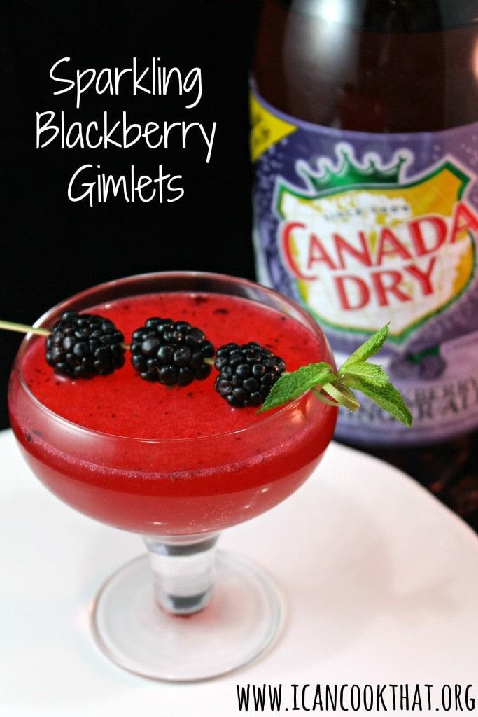 Sparkling Blackberry Gimlets #BlackberryAffair