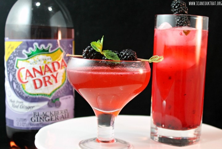Sparkling Blackberry Gimlets #BlackberryAffair