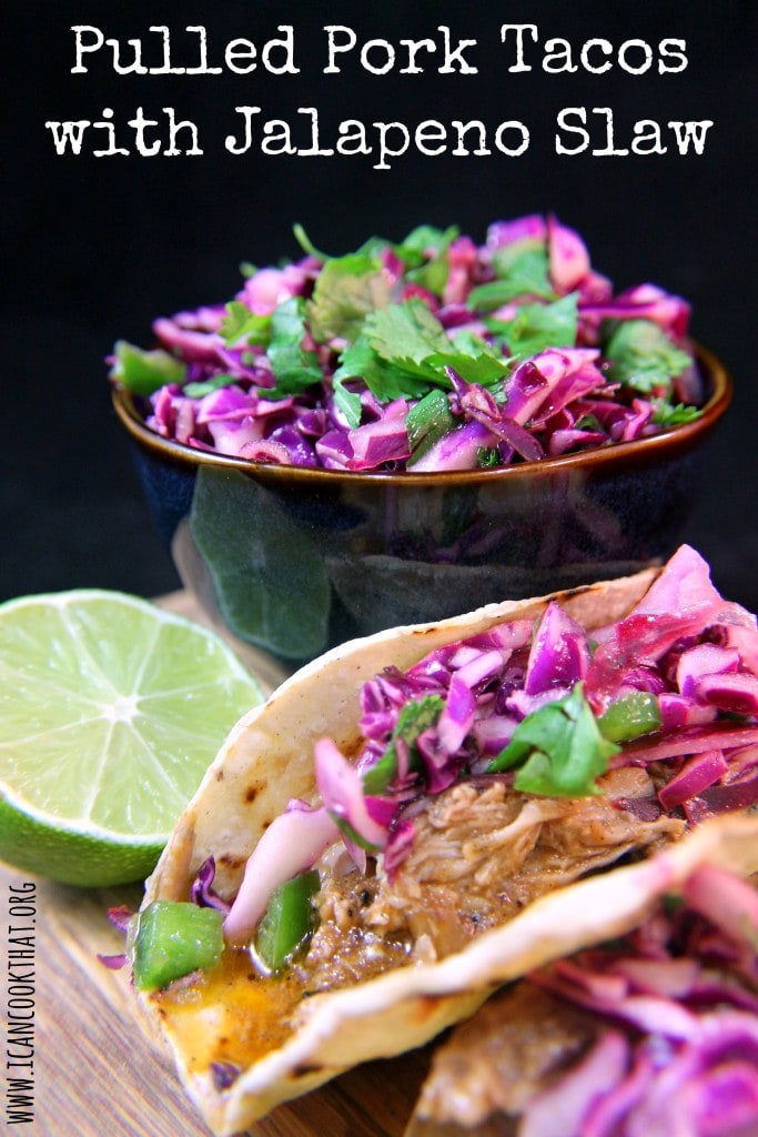 Pulled Pork Tacos with Jalapeno Slaw