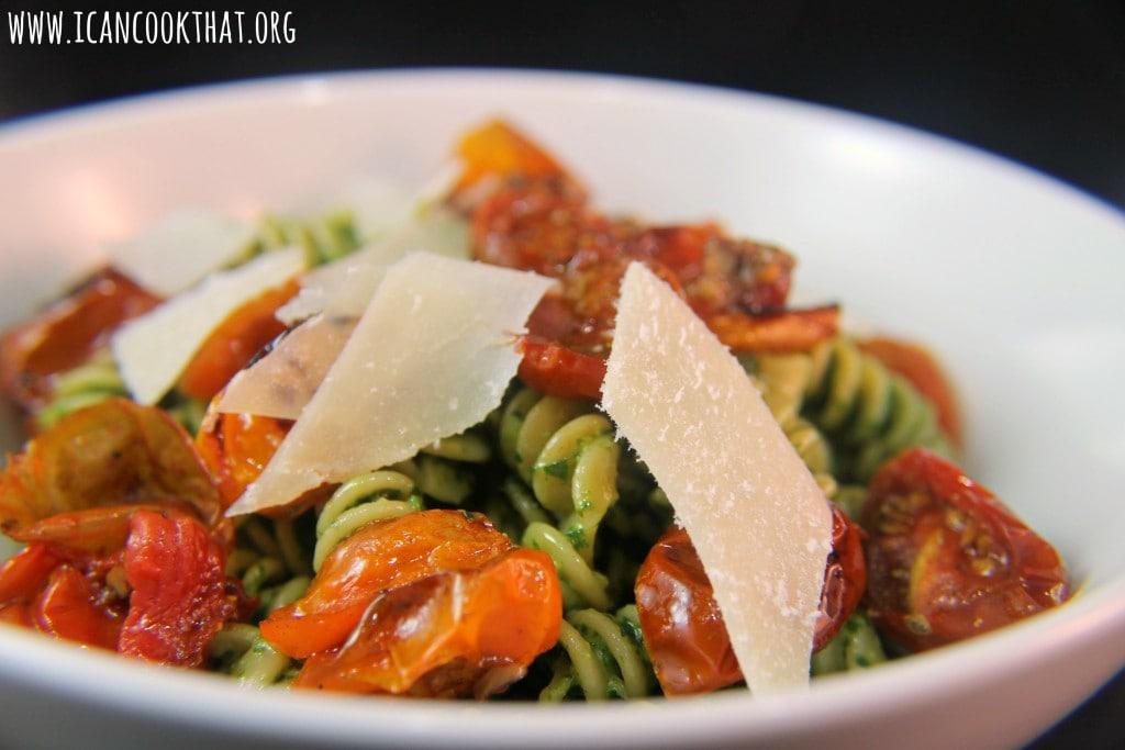 Roasted Tomato Pesto Pasta #DareToPair