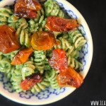 Roasted Tomato Pesto Pasta #DareToPair