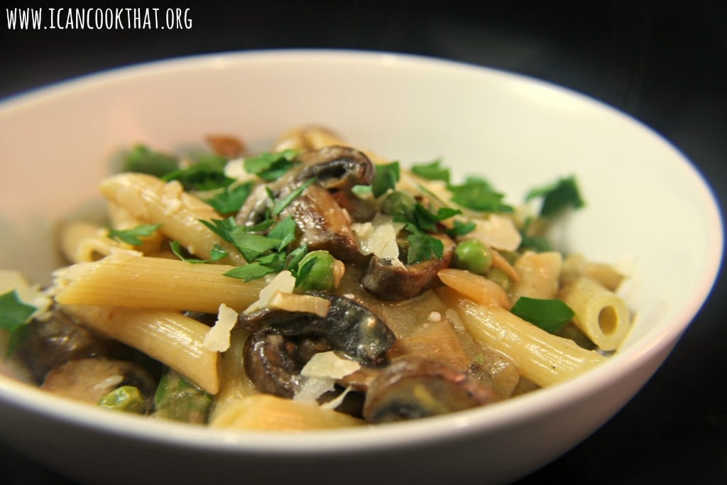 Penne With Spring Vegetables Recipe — Dishmaps