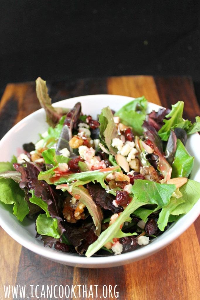 elevAte Organic Nutty Cranberry Salad #ElevateSuperFoods