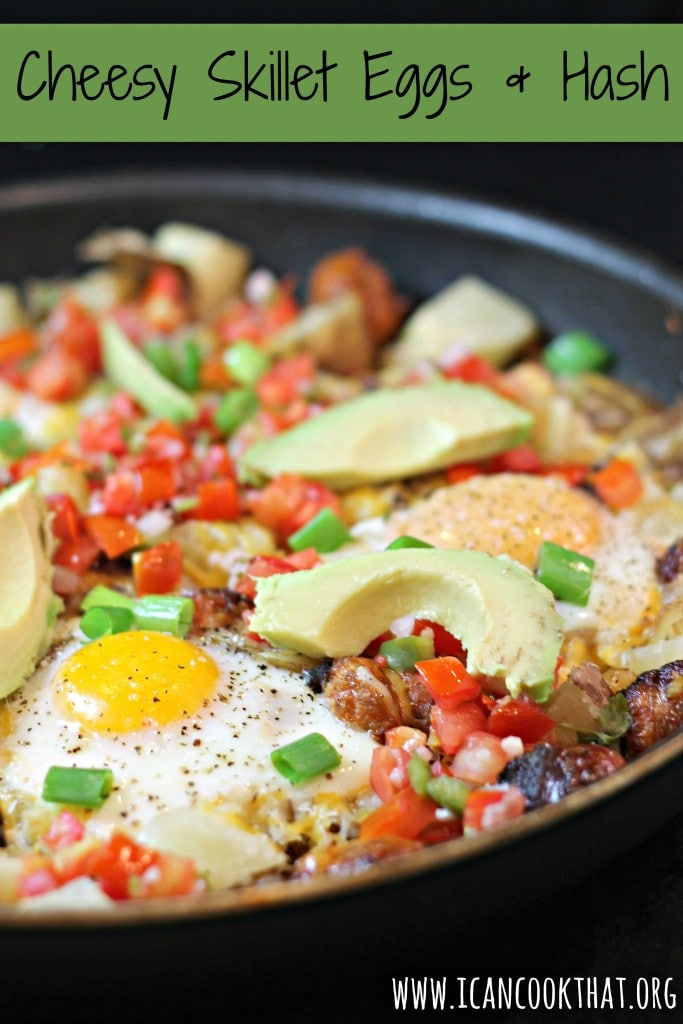Cheesy Skillet Eggs and Hash
