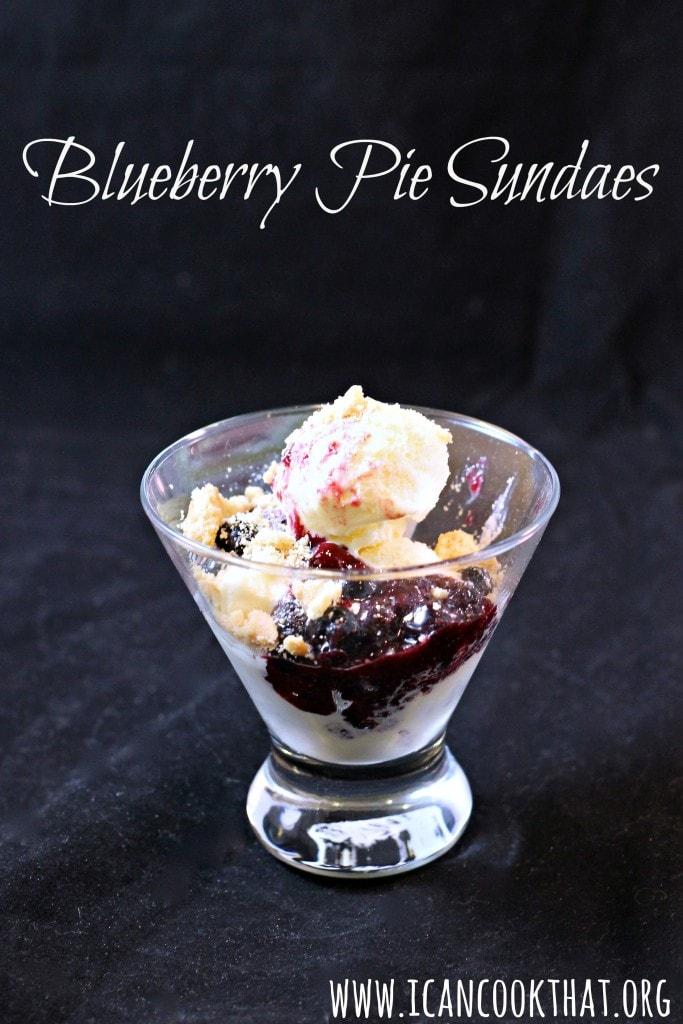Blueberry Pie Sundaes