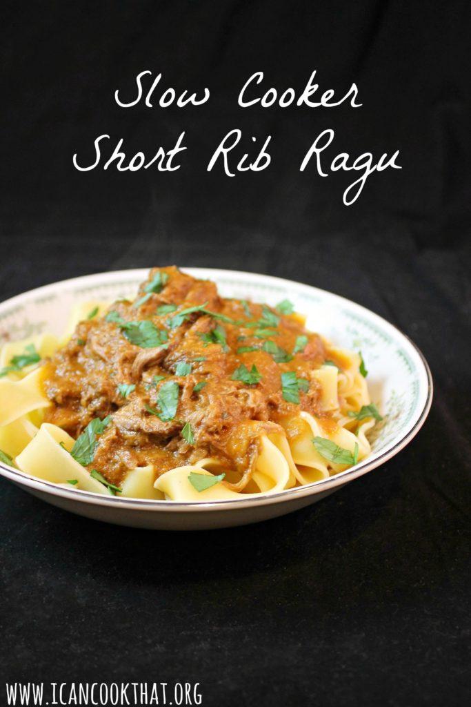 Slow Cooker Short Rib Ragu