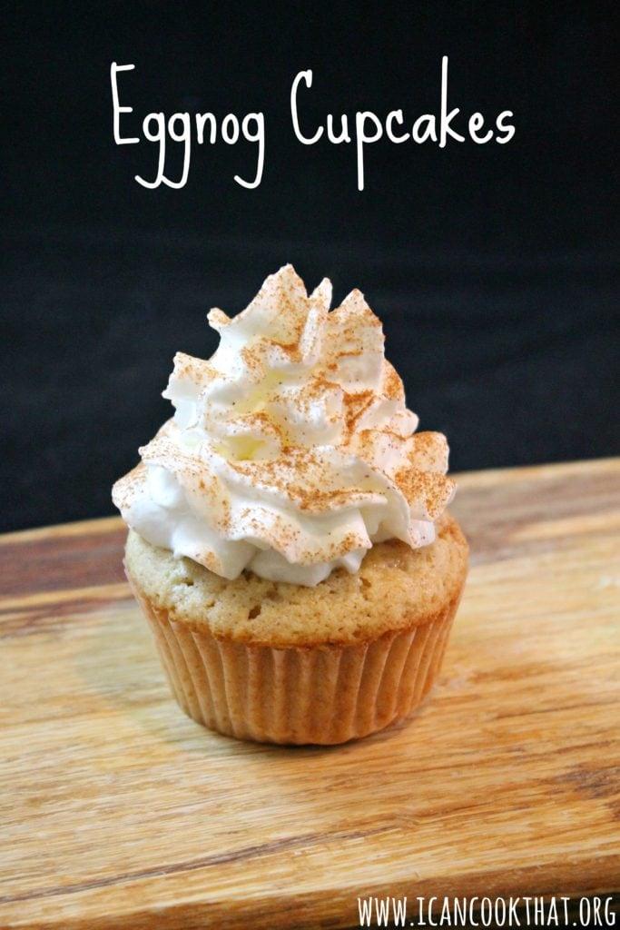Eggnog Cupcakes #ShareTheJoy
