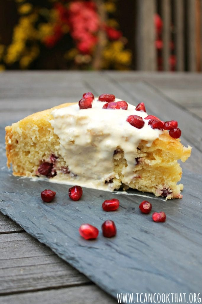 Pomegranate Olive Oil Cake