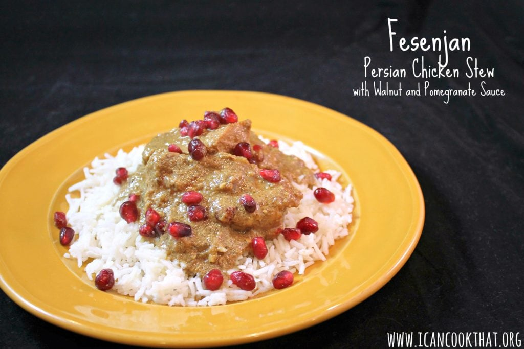 Fesenjan: Persian Chicken Stew with Walnut and Pomegranate Sauce