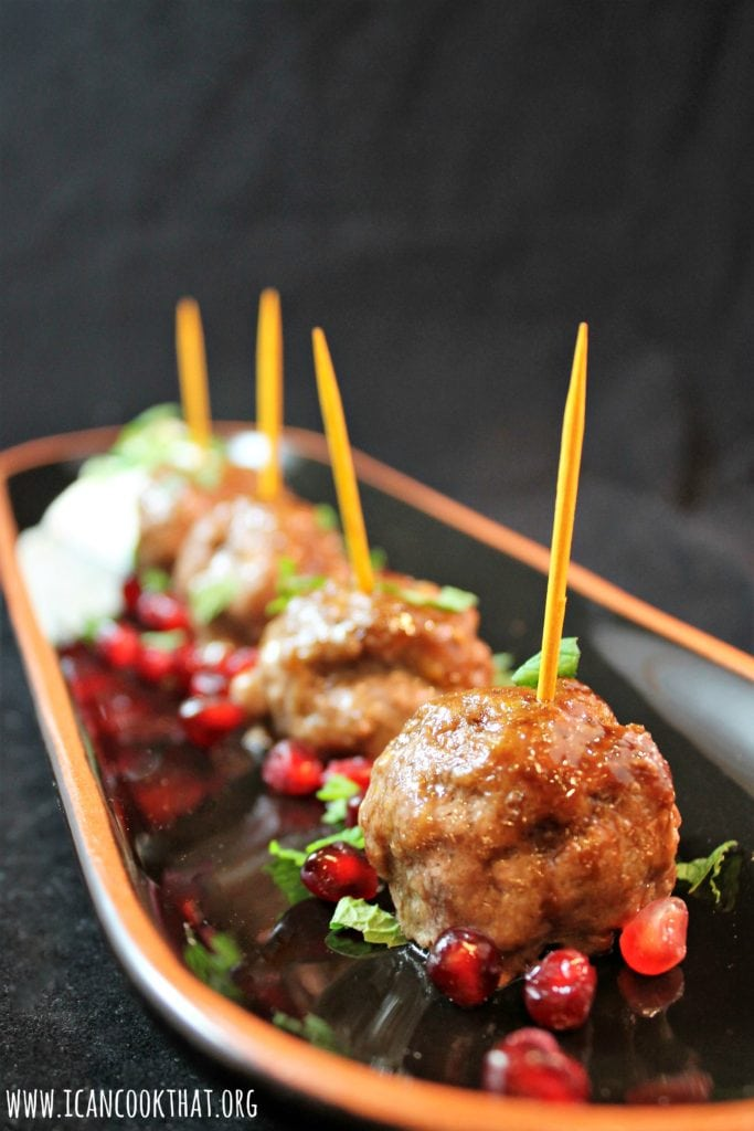 Pomegranate-Glazed Lamb Meatballs
