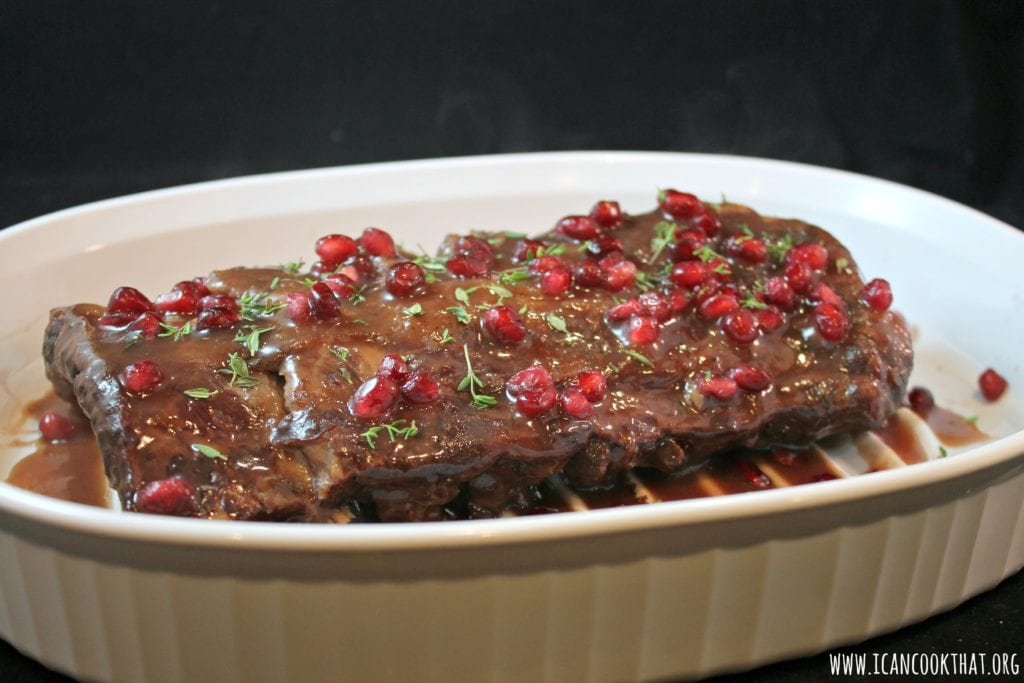 Slow Cooker Pomegranate Baby Back Ribs