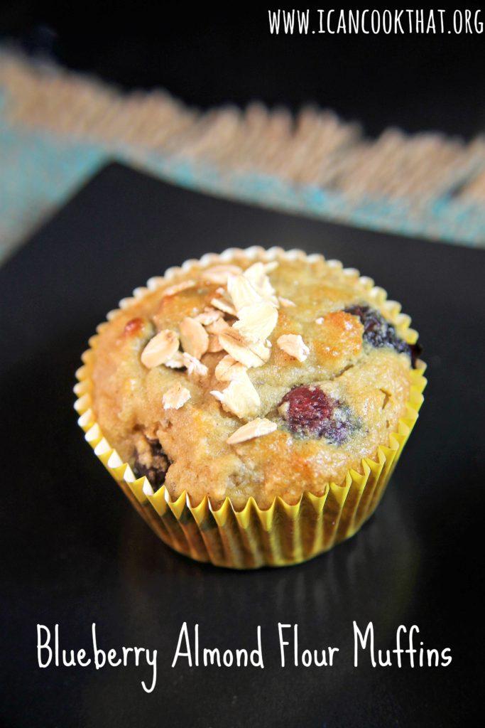 Gluten Free Paleo Blueberry Almond Flour Muffins Recipe