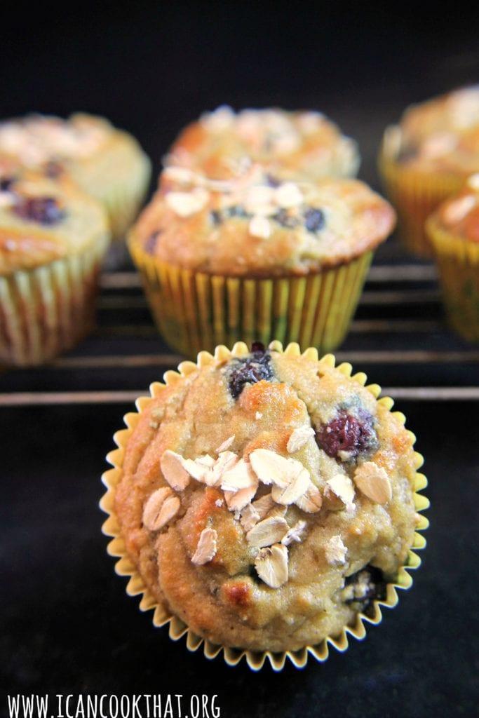 Gluten Free Paleo Blueberry Almond Flour Muffins