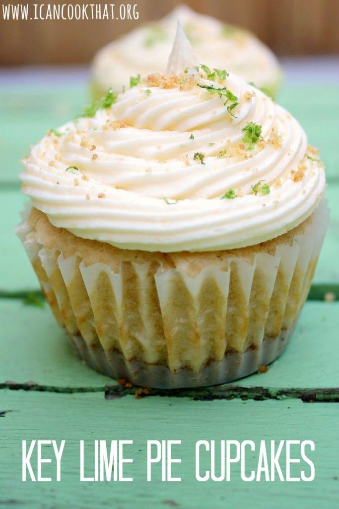 Key Lime Pie Cupcakes #FlKeysCookOff