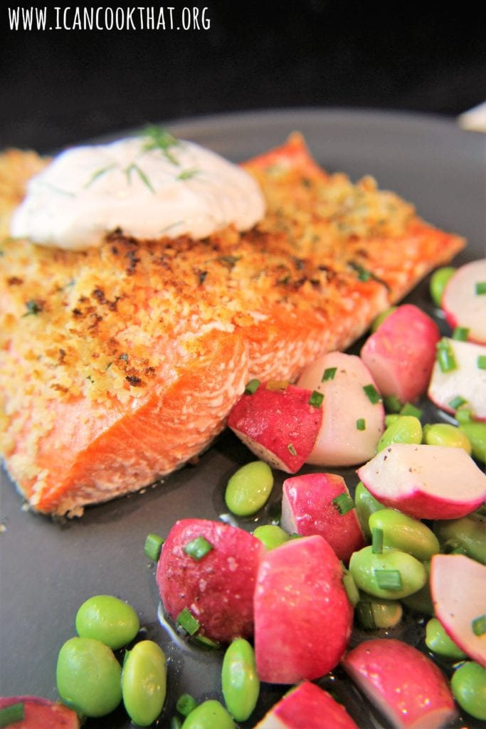 Warm Buttered Radish and Edamame Salad