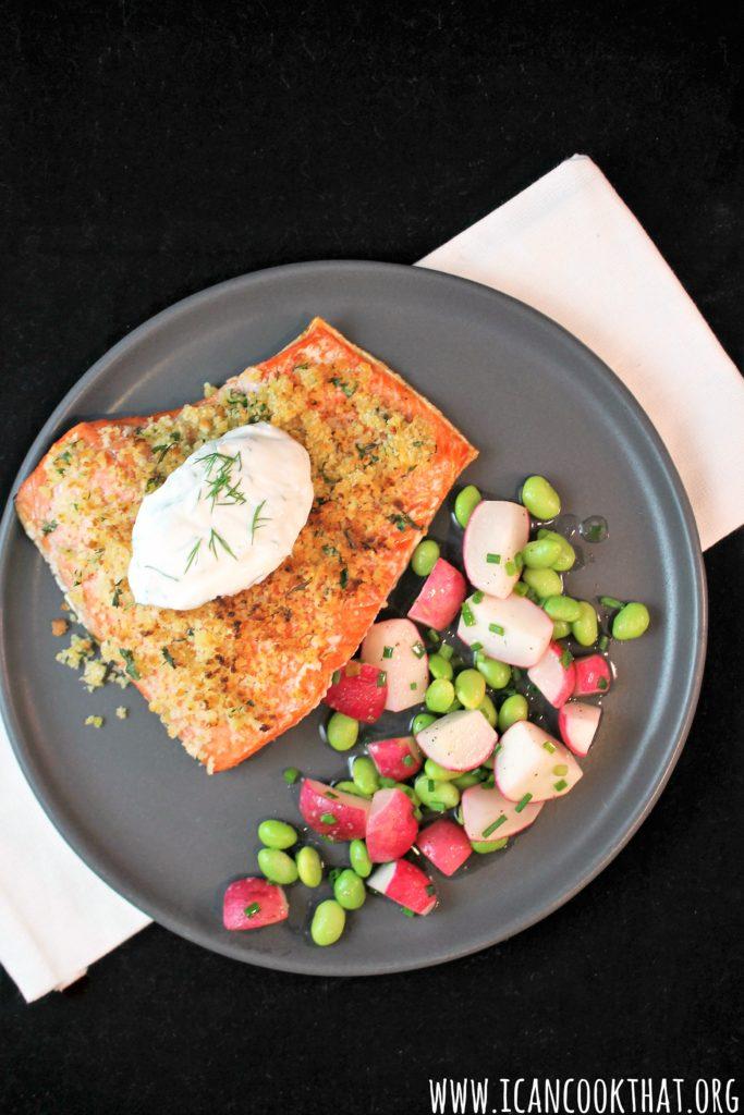 Warm Buttered Radish and Edamame Salad
