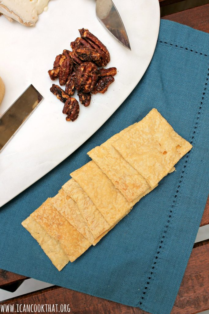 Aida's Szechuan Candied Pecans and Sourdough Crackers