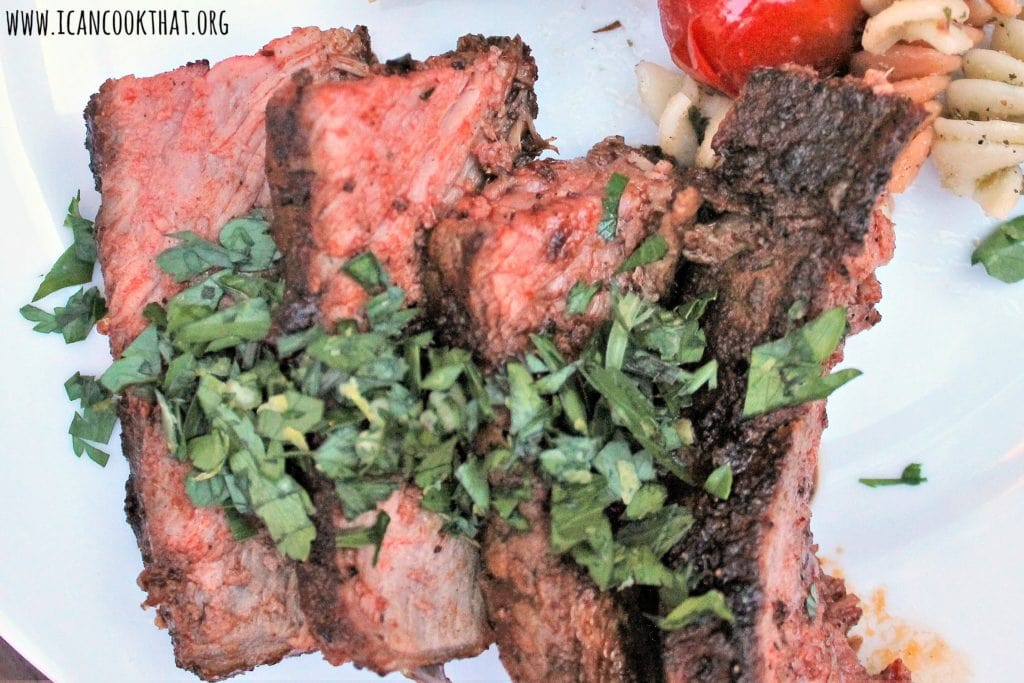 Grilled T-Bone Steak with Gremolata