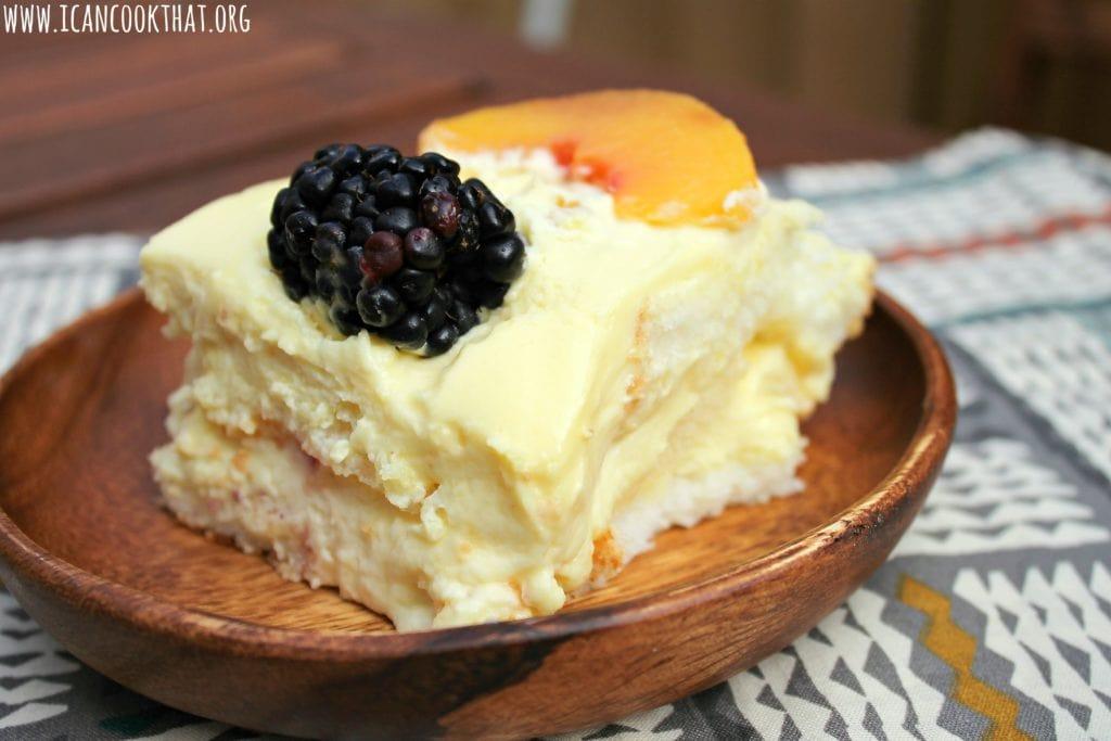 Blackberry Peaches and Cream Cake