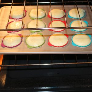 cupcakes after 12 minutes (before rotating)