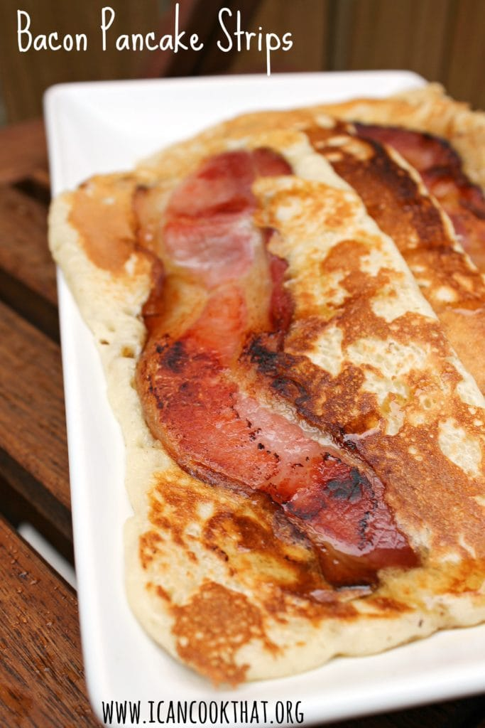 how to make pancake bacon strips