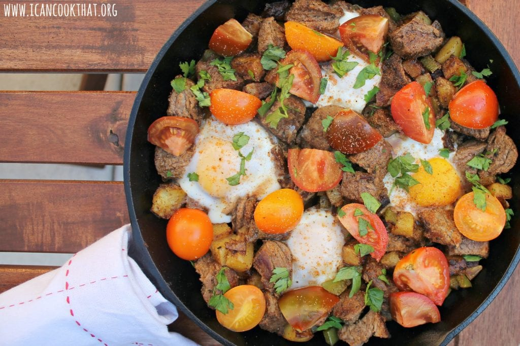 Steak and Eggs Hash