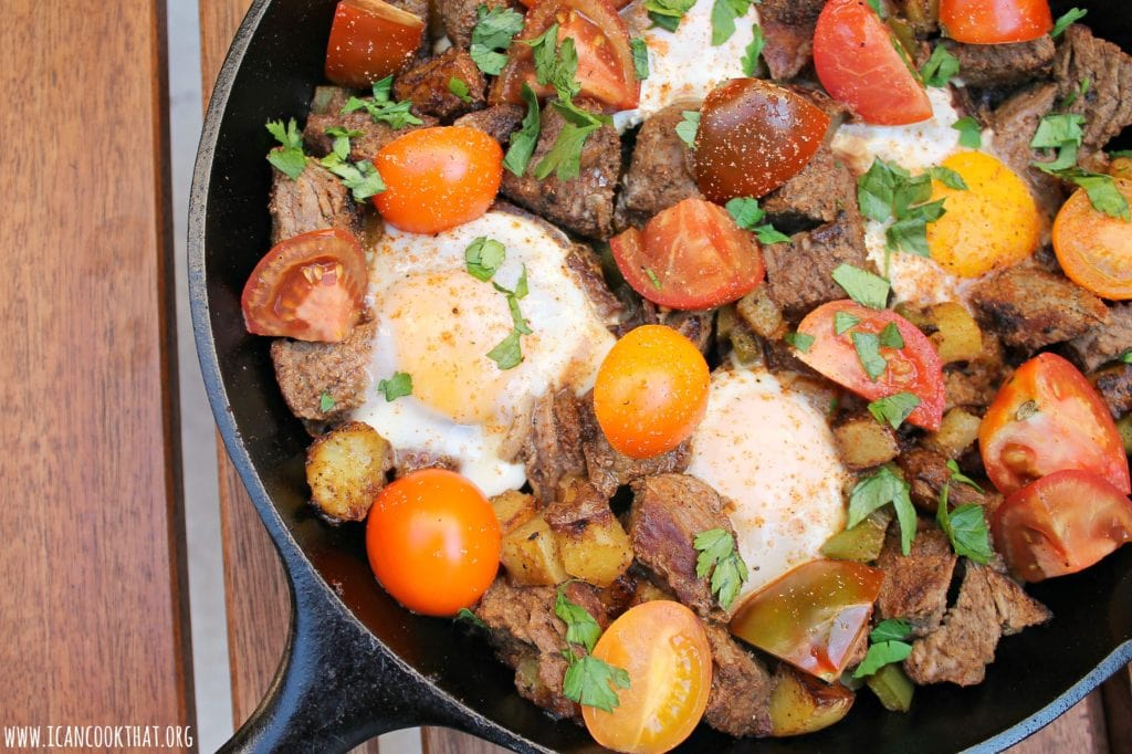 Steak and Eggs Hash Recipe | I Can Cook That