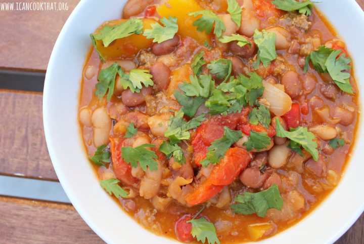 Chunky Beef and Vegetable Chili