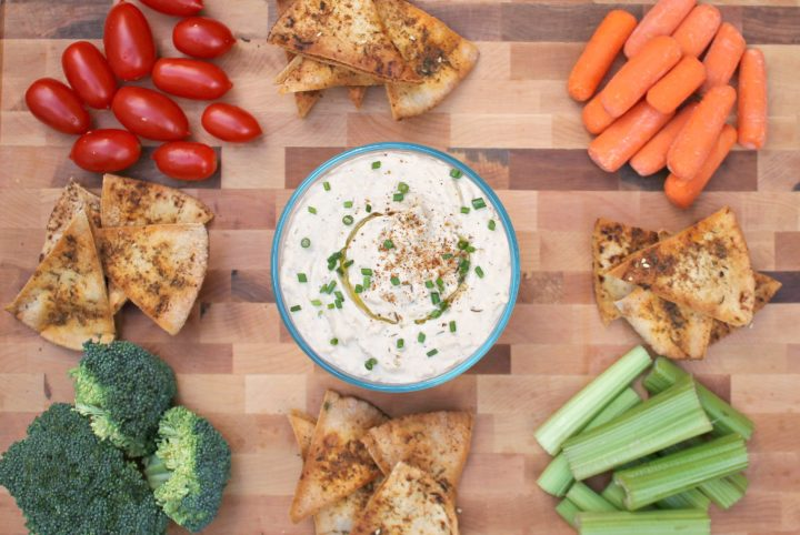 White Bean-Tahini Dip with Toasted Pitas