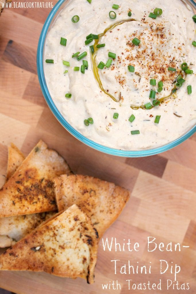 White Bean-Tahini Dip with Toasted Pitas