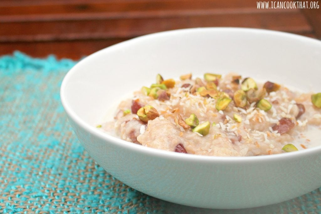 Slow Cooker Coconut Rice Pudding