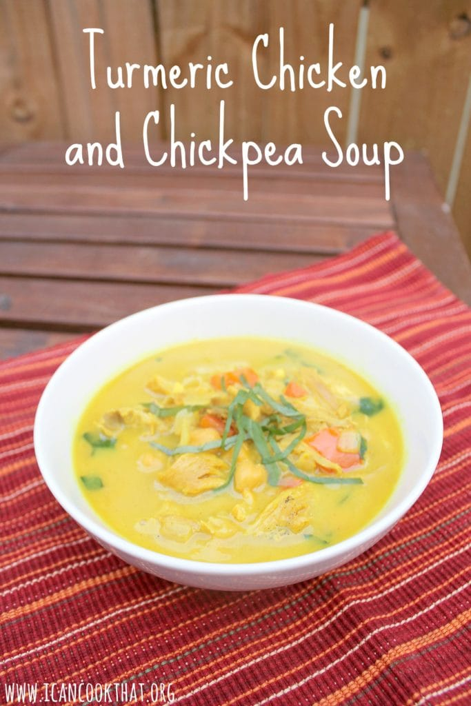 Turmeric Chicken and Chickpea Soup