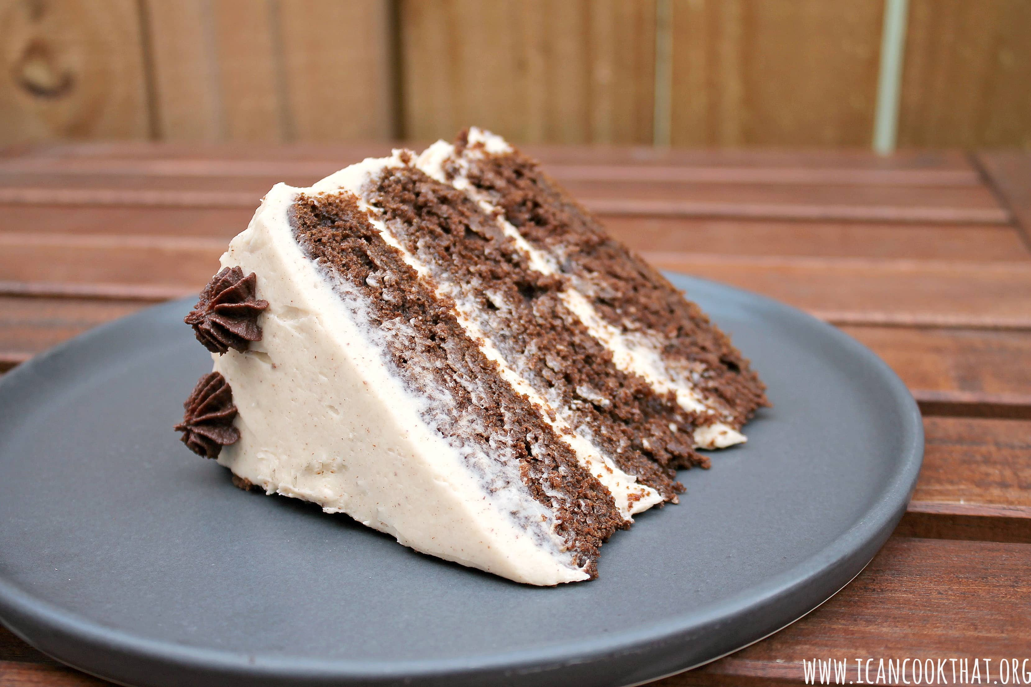 Chocolate Pumpkin Cake with Cinnamon Cream Cheese Frosting