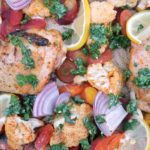 Sheet Pan Chicken with Cauliflower and Carrots
