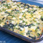 Spinach and Artichoke Breakfast Casserole