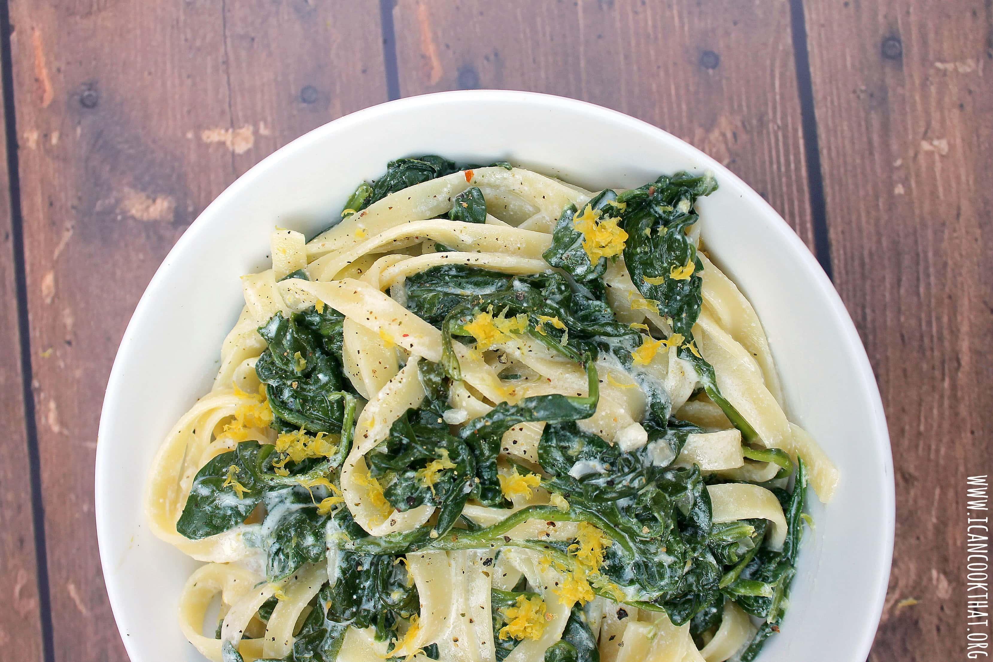 Spinach Lemon Ricotta Pasta