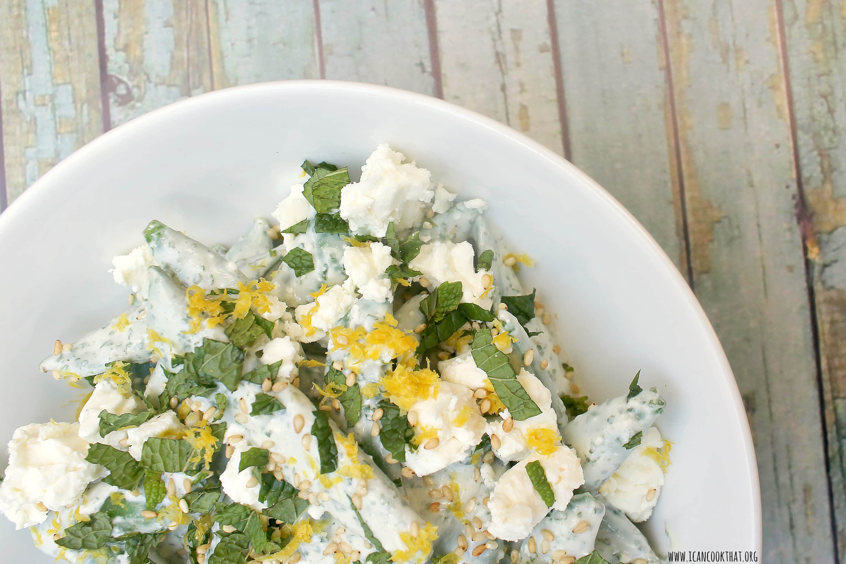 Creamy Snap Peas with Feta