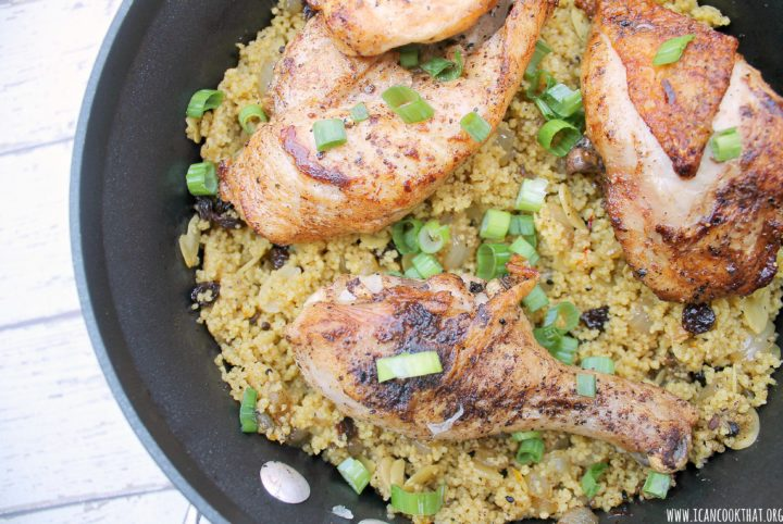 One Pot Moroccan Chicken with Couscous