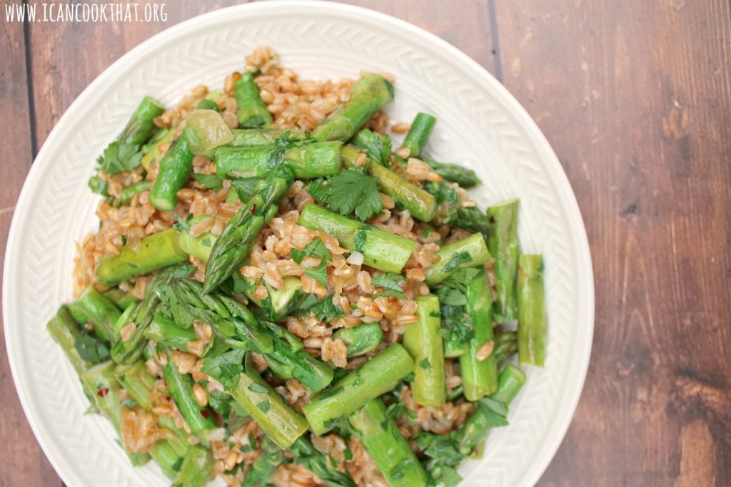 Farro with Vidalia Onion and Asparagus