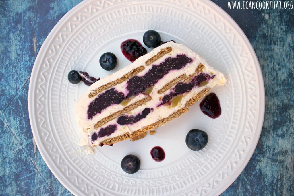 No Bake Blueberry Lemon Icebox Cake