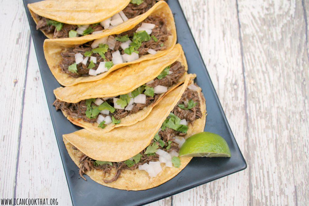 Pressure Cooker Barbacoa Beef Tacos