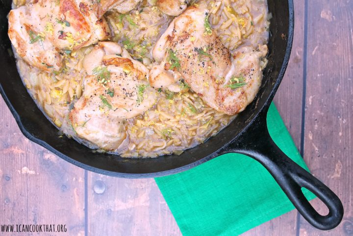 One Pot Chicken with Orzo