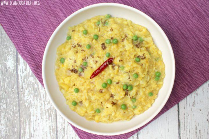 Pressure Cooker Khichuri – Bengali Red Lentil Risotto